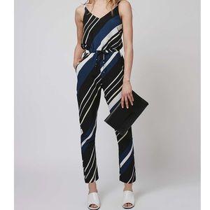 Topshop striped jumpsuit size 4